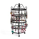 PENGKE 4 Tiers Rotating Earring Spin Table,144 Holes Earring Organizer Jewelry Display Stand for Earrings,12.2 x6 inch