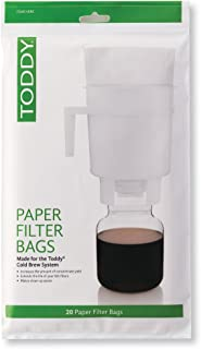 Toddy THMPF20 Paper Filter Bags, Home Model Filters, Natural, Pack of 20