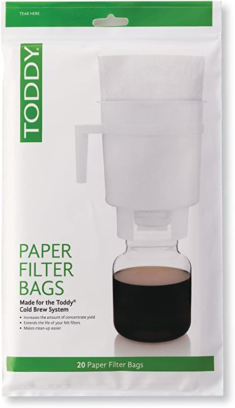 Toddy THMPF20 Paper Filter Bags Home Model Filters Natural Pack Of 20