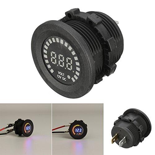 Alamor 12V Led Digital Voltage Prise Compteur Affichage Auto Voiture Moto Panneau Volt Mètre