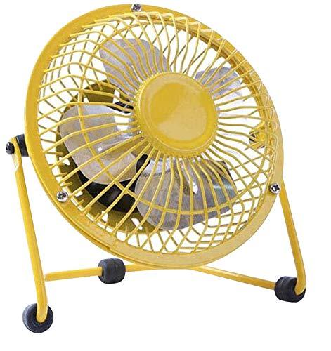 Demarkt–Mini ventilador ventilador de mesa con conexión USB 4pulgadas amarillo