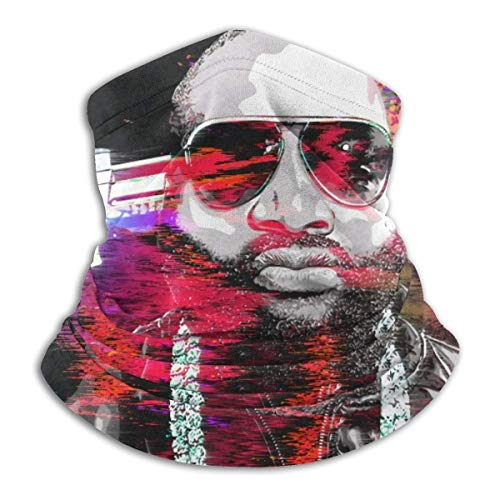 Rick Ross Mastermind Microfibre Cache-Cou Écharpe Doux Élastique Hommes Femmes Polaire Face Couverture pour Sports d'hiver en Plein Air