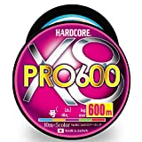 DUEL(デュエル) HARDCORE(ハードコア) PEライン 1.5号 HARDCORE X8 PRO 600 1.5号 10m×5色 ホワイトマーキング 大容量 H3955