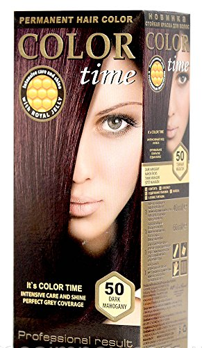 Color time, tinte permanente para el cabello de color caoba oscuro 50