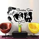 zhuziji Cute Dog Salon Wandaufkleber E-co Friendly Vinyl Wandaufkleber Beauty Salon Wandaufkleber...
