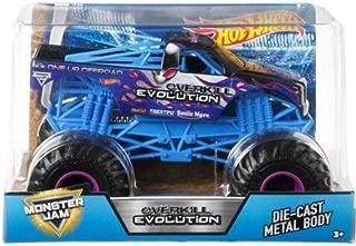 Hot Wheels Monster Jam Overkill Evolution Vehicle, 1:24 Scale
