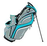 Ben Sayers DLX, Borsa con Supporto, per Golf Unisex, Grey/Turquoise, 8.5-inch