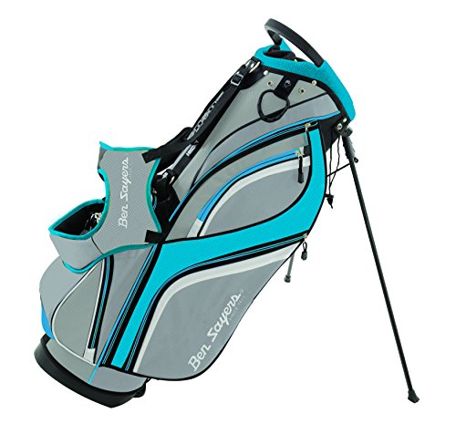 Ben Sayers Unisex's DLX Stand Bag, Grey/Turquoise, 8.5-Inch