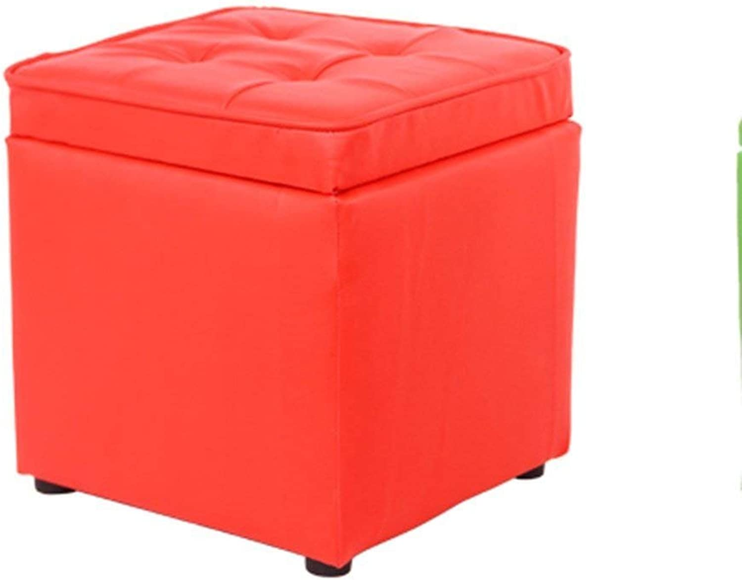 SED Sofa Stool- Small Stool Solid Wood Living Room Stool Change shoes Stool Simple Creative Sofa Stool Storage Stool (red) (28  30cm) -Storage Stool