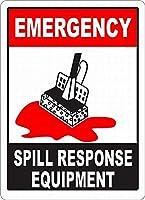 Emergency Spill Response Equipment メタルポスター壁画ショップ看板ショップ看板表示板金属板ブリキ看板情報防水装飾レストラン日本食料品店カフェ旅行用品誕生日新年クリスマスパーティーギフト