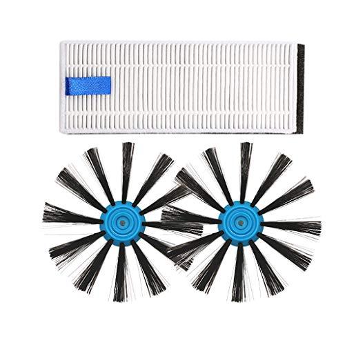 Momola Kits De Remplacement Pour Bissell EV675 Robot Aspirateur,2PCs brosse latérale et 1PC filtre