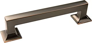 Hickory Hardware P3012-OBH Studio Collection Pull, 5-1/16 Inch (128mm) Center to Center, Oil-Rubbed Bronze Highlighted