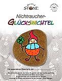 The Art of Stone Nichtraucher Glückswichtel - Geschenk Unikat aus Naturstein - Glücksbringer,...