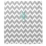 LAundNA Grey And White Stripes Polyester Duschvorhang Wasserdicht & schimmelresistent, 72 ray And White Stripes Polyester Shower curtain Waterproof And Mildew resistant,72??72?