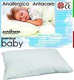 PERLARARA - Almohada para Niños 2 Años, Transpirable y Antialérgica - para Bebés de 1-2 - 3 año (40 x 60 cm)