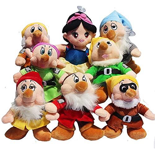 Peluches 8 Unids / Lote Princesa Blancanieves Y Los Siete Enanitos Peluche Suave Relleno Lindo Juguetes De Dibujos Animados Muñecas Regalos para Niños