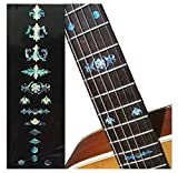 Fretboard Markers Inlay Stickers Decals for Guitars, Bass & Banjos - Aged Banjo Type - Abalone Blue
