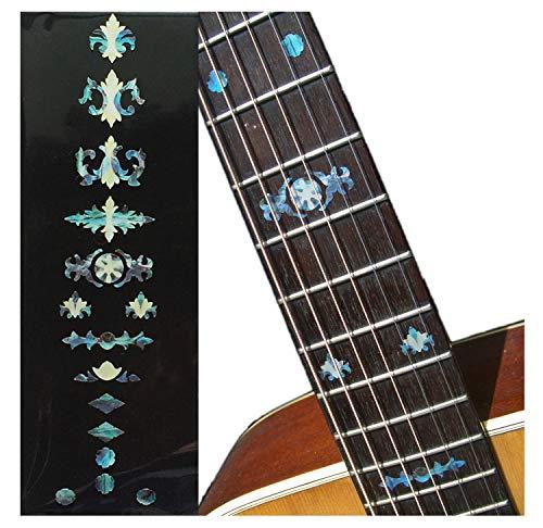 Marcadores de trastes para guitarras, bajo y banjos – Marcadores de traste Banjo envejecidos – Abulone Blue, F-004BJ-BL