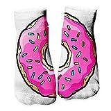 Ferocity Calcetines Divertidos Tema de Deporte de los Modelos Lindo de algodón de Colores 3D Funny Ciambella Rosa Pink Donut [001]