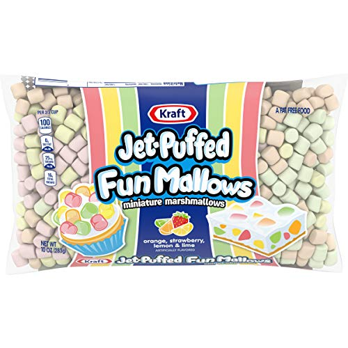 Jet Puffed Fruit Flavored Marshmallows 10 oz Bag Pack of 16