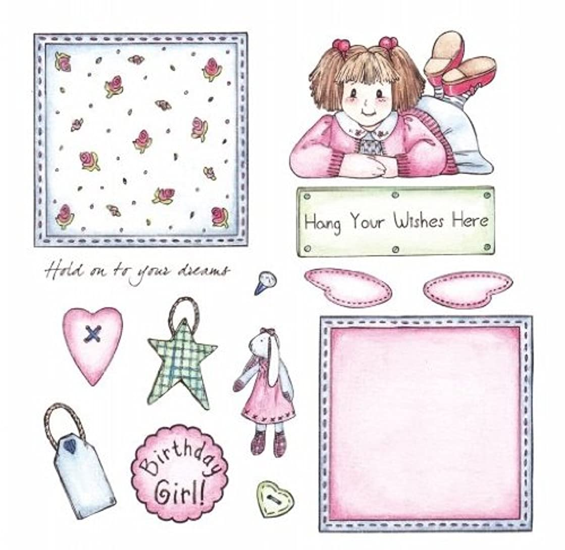 Crafter's Companion Patchwork Polly 6x6 Unmounted Rubber Stamp Set: Chloe