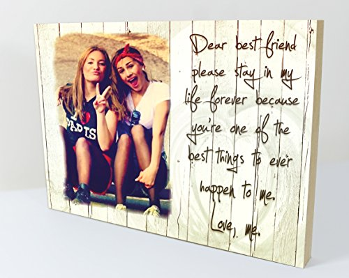 CSPRINTS Personalised plaque with photo best friends friendship quote...
