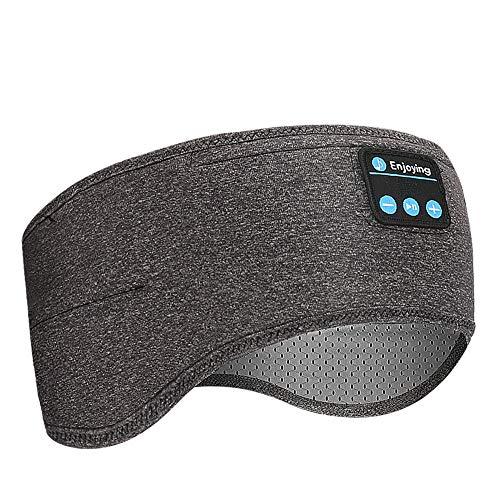 Achort Bluetooth Stirnband V5.0 Wireless Musik Sport Stirnband Schlaf Kopfhörer Stereo Lautsprecher Freisprecheinrichtung Headset für Workout, Joggen, Schlafen, Laufen, Walking und Yoga
