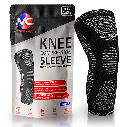 FDA Approved (1) Compression Knee Sleeve for Men & Women – Knee Brace Support – Breathable &...