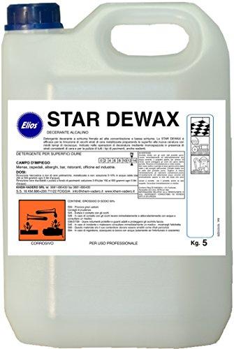 Elios - Star DEWAX decerante alcalino Senza Schiuma kg.5 - Cartone 4 taniche kg.5