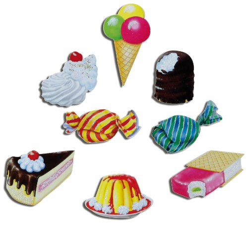 Kühlschrankmagnete Kinder Süßigkeiten Magnete für Magnettafel Küche stark 8er Set Essen süß mit Motiv Sweets lustig