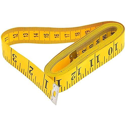 YuKeShop 1 regla de medición de cuerpo útil para coser, cinta métrica de costura suave, 2 m, regla de costura, muy práctica