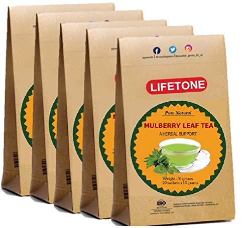 Maulbeerblatt Tee | Koffeinfreier gesunder Tee | Diabetischer Tee (100 Teebeutel)