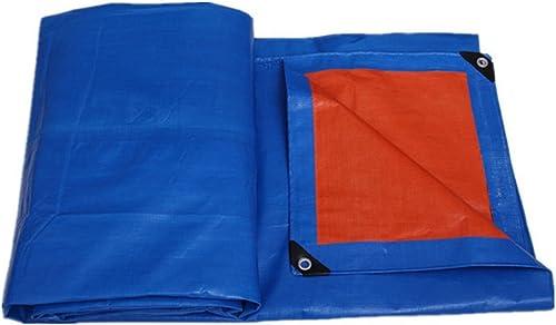 FERZA Home Tissu antipluie imperméable bache Prougeection des Plantes horticoles Prougeection Solaire Camion Hangar Tissu Pliable Anti-Corrosion Anti-oxydation Bleu + Orange (Couleur   A, Taille   6x10M)