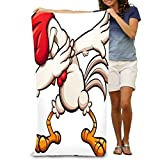 Emonye Bath Towel Soft Beach Towel 31'x 51' Towel Dabbing Cartoon Chicken Rooster Dabbing Cartoon ch