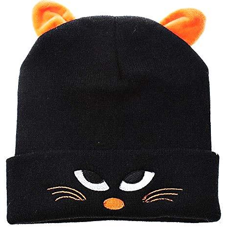 Muts voor kinderen - oren - kat - one size - zwart - origineel cadeau-idee