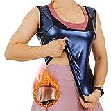 WOWENY Women's Slimming Workout Sauna Tank Top Sweat Vest Shapewear for Weight Loss, Heat Trapping Sauna Vest for Women Black (Neoprene-Free Vest, L-XL)