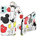 DISNEY COLLECTION Case for iPhone 11,Mickey Fashion Wrist Strap Band Protector Phone Cover Full-Body Bumper Lanyard - 6.1 Inch.