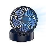EasyAcc Mini Ventilatore Collo Portatile,2600mAh USB Ventilatore Pieghevole Scrivania Ricaricabile Batteria Sospeso Mano Libera Ventilatore Ventola 180°Rotante 6-18 ore 3 velocità Viaggi Campeggio