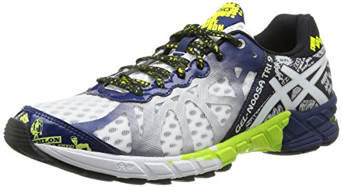 Asics Gel Noosa Tri - Zapatillas de Running para Hombre, Color Wht/Navy/FL.Yel, Talla 42