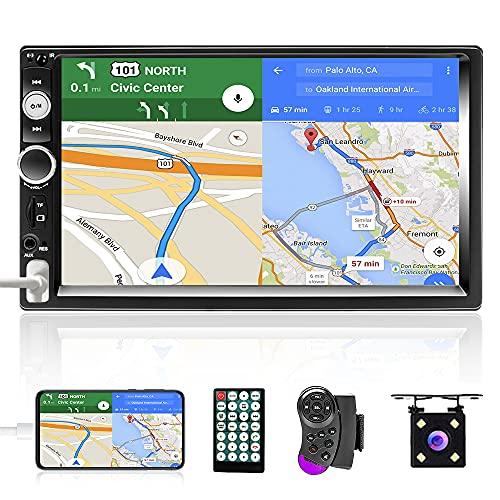 Podofo Doppio Din Autoradio con Bluetooth, Lettore 7 Pollici Car MP5 Touch Screen Digitale...