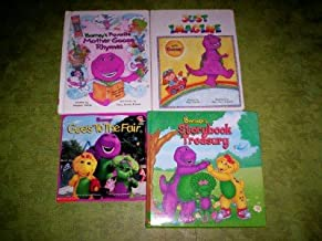 Barney - (Set of 4) (Barney's Favorite Mother Goose Rhymes / Barney Goes To the Fair / Jst Imagine With Barney / Barney's Storybook Treasury)