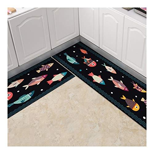 Keuken Rugs Non-Slip Keuken Mats en Tapijten Rubber Back Indoor Entry Vloer Vloerbedekking voetmat Machine wasbaar Deurmat Buiten Extra Duurzaam (Color : B, Size : 45 * 120cm)