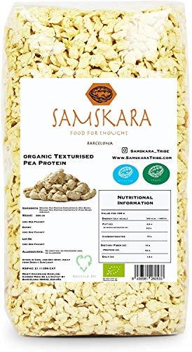 Protéine de pois granulée texturée   agriculture biologique BIO   100% naturel   viande végétale végétalienne sans gluten sans soja (500gr)
