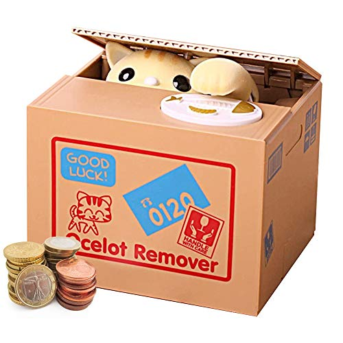 Auped Money Box Moneda Hucha Electrónica Automática Gato Blanco Savings Bank Regalo significativo para niños