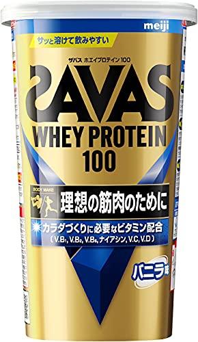 スマートマットライト 明治 ザバス(SAVAS) ホエイプロテイン100 バニラ味【14食分】 294g