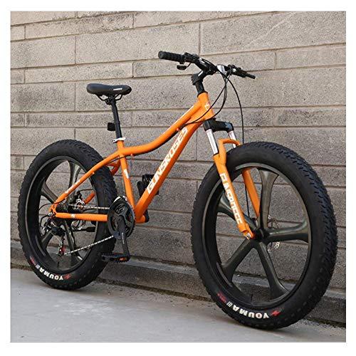 Bicicletas de montaña de 26 pulgadas, bicicleta de montaña rígida de acero con alto contenido de carbono, bicicleta de montaña todo terreno con neumáticos gruesos, bicicletas antideslizantes para muje