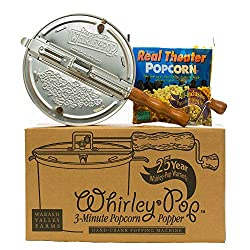 powerful Whirley-Pop Popcorn Set-Metal Gear-Silver-1 Real Theater All Inclusive Popping Set
