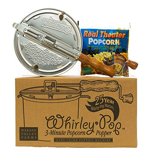 Whirley-Pop Popcorn Popper Kit - Nylon Gear - Color Changing - 1 Real Theater All Inclusive Popping Kit