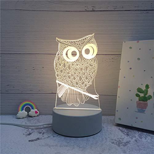 Klein Nachtlampje Creative 3D Kleine Tafellamp 1 Goudkleurig