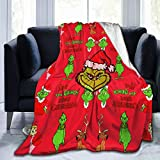 Christmas Grinch Head Pattern Fashion Classic Pattern Blanket,Large Super Soft Warm and Comfortable Throw Blanket for Fall Winter Spring All Season Lightweight Blankets for Couch Bed Sofa50X40'